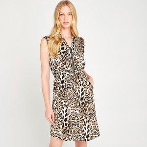 Apricot Brown Leopard Print Utility Dress  5051839431423size10