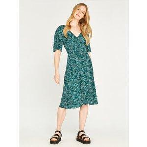 Apricot Green Button Front Dot Midi Dress  5051839446649size8