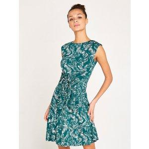 Apricot Green Feather Print Dress  5051839449664size14