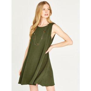 Apricot Green Linen Sleeveless Mini Dress  5051839450561size14