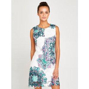 Apricot Green Mandala Lace Shift Dress  5051839450325size8
