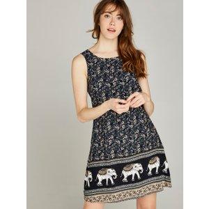 Apricot Navy Elephant Shift Dress  5051839377028size12