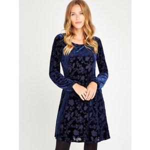 Apricot Navy Floral Devore Tunic Dress  5051839388628size10