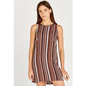 Apricot Navy Geo Stripe Shift Dress  5051839437012size12