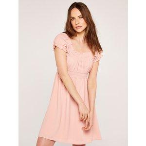 Apricot Pink Milkmaid Mini Dress  5051839529847size10