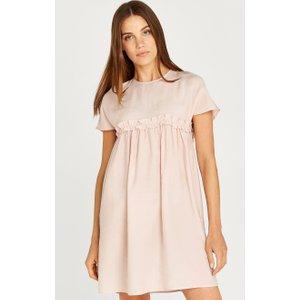Apricot Pink Ruffle Babydoll Mini Dress  5051839488106size16