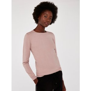 Apricot Pink Soft Touch Round Neck Jumper  5051839504035size14