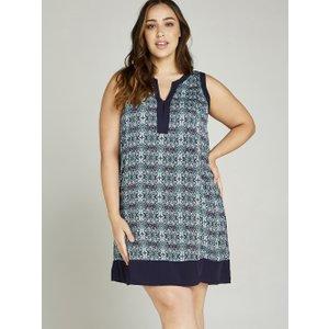 Apricot Tile Print Tunic Dress +  5051839372412size26