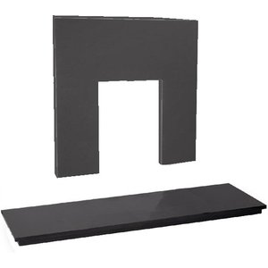 The Gallery Collection 60 Inch X 18 Inch Slate Hearth And Back Panel Set