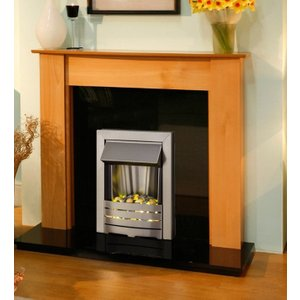 Axon Capri Granite Fireplace And Helios Electric Fire Suite