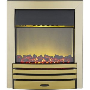 Axon Eclipse Brass Inset Electric Fire