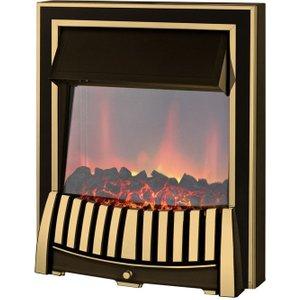 Axon Elan Brass Inset Electric Fire