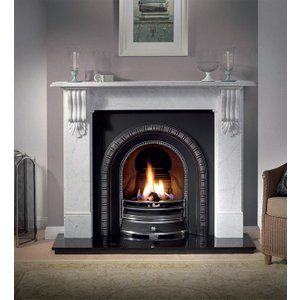 The Gallery Collection Gallery Collection Kingston Cararra Marble Fire Surround