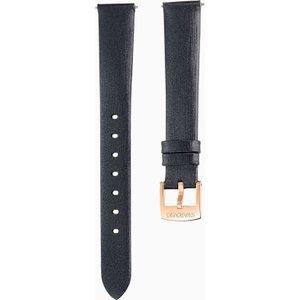Swarovski 14mm Watch Strap, Silk, Black, Rose-gold Tone Plated , Black