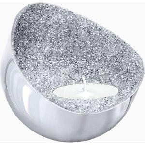 Swarovski Minera Tea Light Holder, Silver Tone White , White