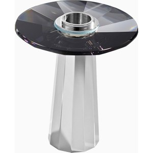 Swarovski Plinth Candleholder, Small, Black , Black