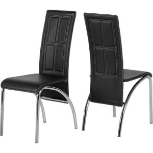 A3 Chair In Black & Chrome Set Of 2