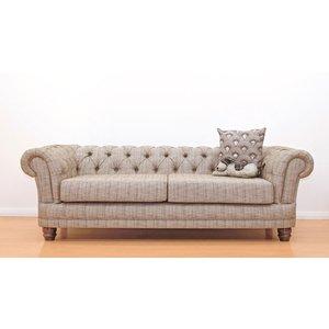 Chesterfield 3 Seater Chenille Fabric Sofa