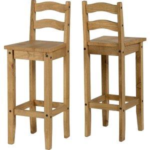 Corona Bar Chair In Pine Set Of 2