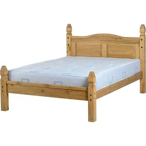 Corona Double Bed Low Foot End In Pine