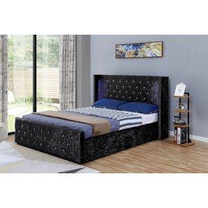 Elizabeth Led Ottoman Velvet Bed Frame