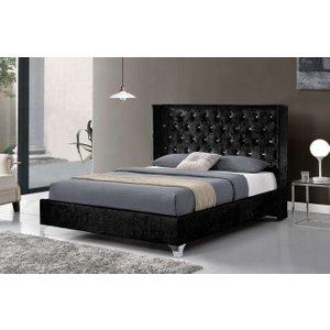 Elizabeth Wingback Velvet Bed Frame