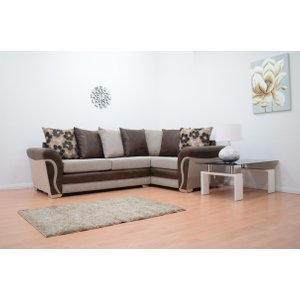 Lexi Fabric Double Arm Corner Sofa