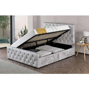Oxford Sidelift Ottoman Velvet Bed Frame