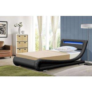 Rio Led Single Leather Bed Frame