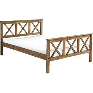 Salvador Double Bed High Foot End In Distressed Waxed Pine