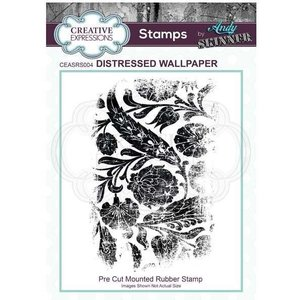 Creative Expressions A6 Pre Cut Rubber Stamp Distressed Wallpaper By Andy Skinner