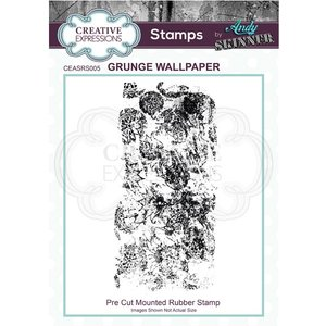 Creative Expressions A6 Pre Cut Rubber Stamp Grunge Wallpaper By Andy Skinner