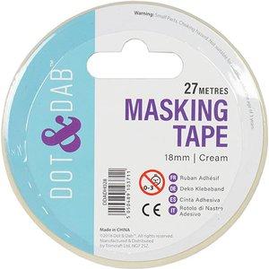 Dot And Dab Masking Tape 18mm X 27m Cream
