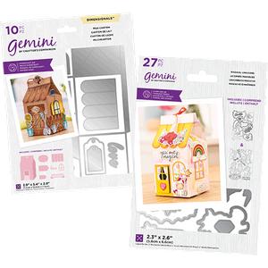 Gemini Milk Carton And Magical Unicorns Stamp & Die Bundle