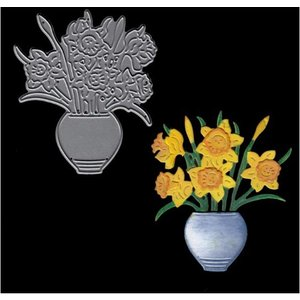 Joanna Sheen Signature Dies Vase Of Daffodils