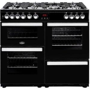 Belling 444444083 Cookcentre 100dft 100cm Dual Fuel Range Black