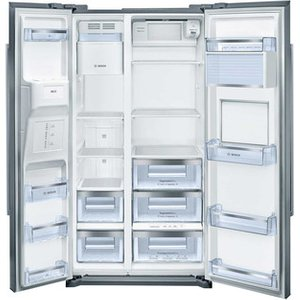 Bosch Kag90ai20g No Frost American Style Fridge Freezer Inox