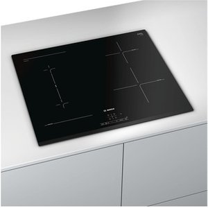 Bosch Pwp631bf1b Serie 4 60cm 4 Zone Induction Hob In Black Glass