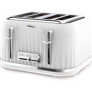 Breville Vtt470 Impressions Collection 4 Slice Toaster In White
