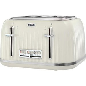 Breville Vtt702 Impressions Collection 4 Slice Toaster In Cream