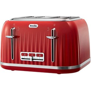 Breville Vtt783 Impressions Collection 4 Slice Toaster In Red