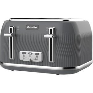 Breville Vtt892 Flow Collection 4 Slice Toaster In Slate Grey