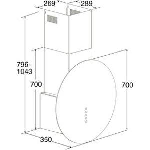 Cda Evq71bl 70cm Circular Glass Chimney Hood In Black 3 Speed Fan