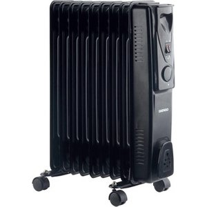 Daewoo Hea1202mp 2 0kw Oil Filled Radiator In Black 3 Heat Settings
