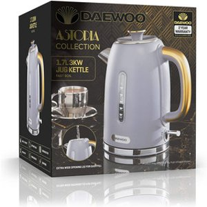 Daewoo Sda1817ge Astoria Cordless Jug Kettle In Grey