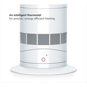 Dyson Am09 White Hot Cool Fan Heater In White Nickel
