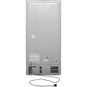 Haier Hrf 450 American Style Fridge Freezer In Silver 1 79m A Rated