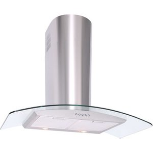 Luxair La70 Cvd Ss 70cm Cvd Curved Glass Cooker Hood In Stainless Stee