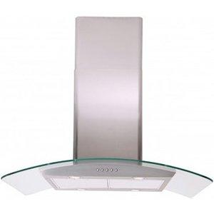 Luxair La70 Cvdi Ss 70cm Cvd Curved Island Glass Cooker Hood In St Ste