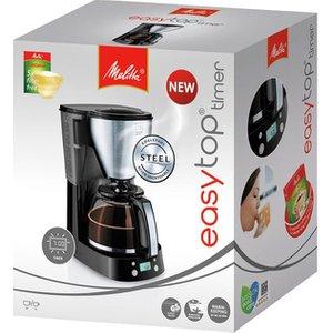 Melitta 6764392 Easy Top Timer Filter Coffee Machine Black St Steel